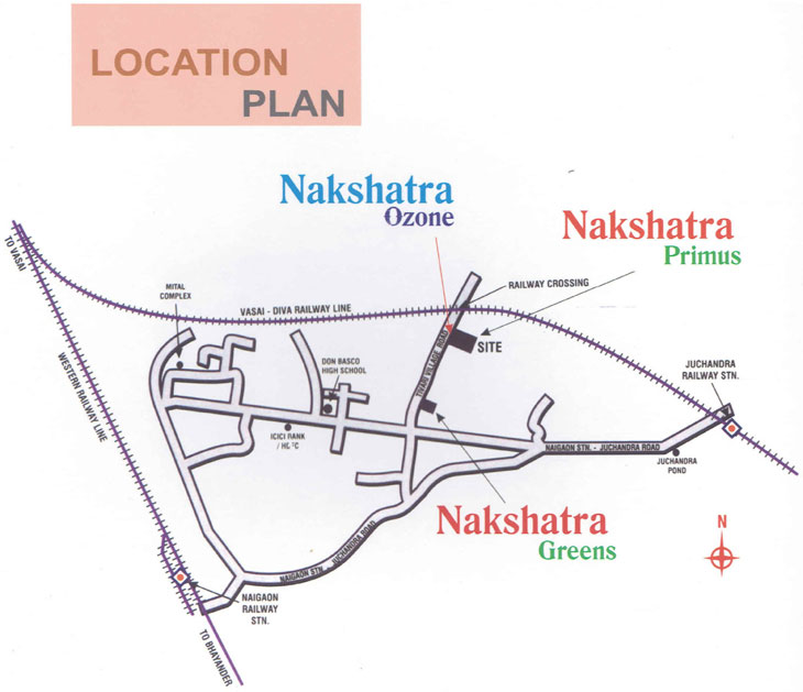 Nakshatra ozone Location map